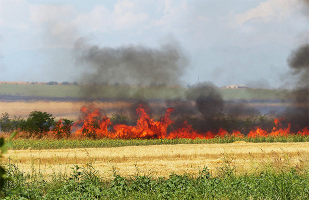 Crop residue fires in Georgia