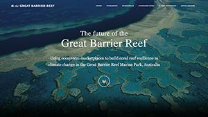 Great Barrier Reef portfolio website