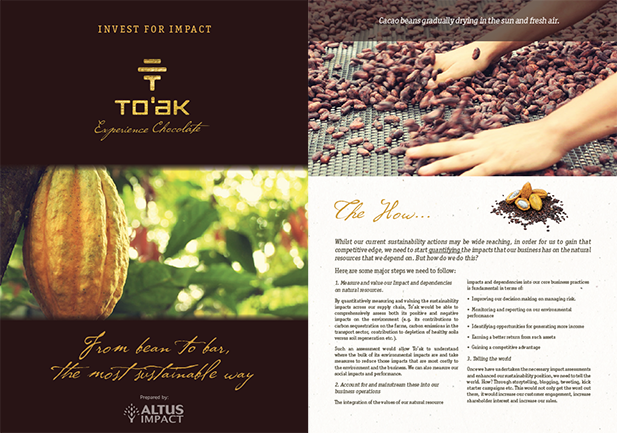 Brochure for To'ak