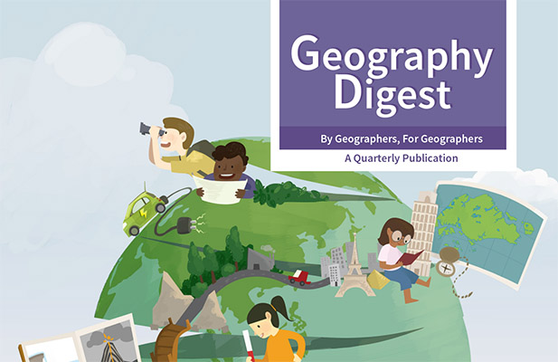 Geography Digest screen shot of front cover